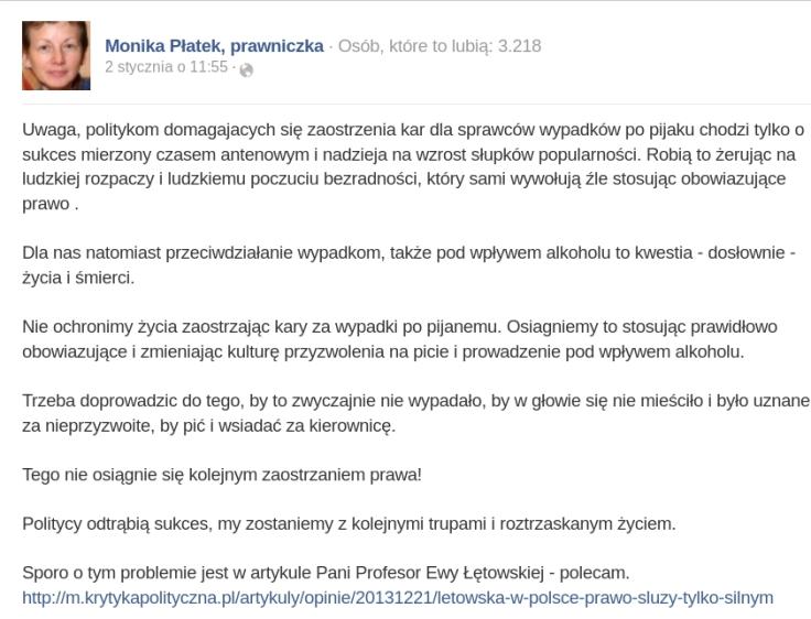 Bydlak z bmw Monika Płatek fb