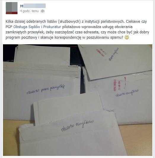 otworzone listy zanonimizowane