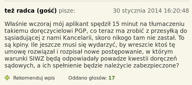 PGP koment z Rzepy aplikant tłumaczy