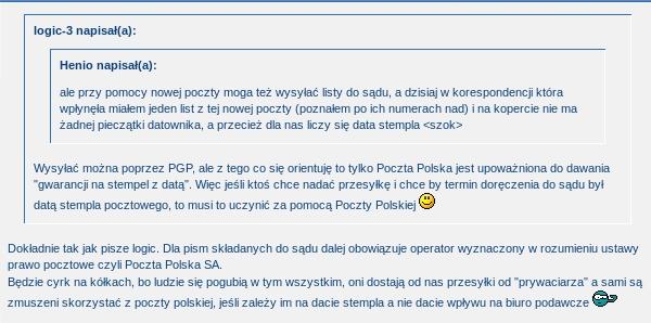 PGP koment z sądu