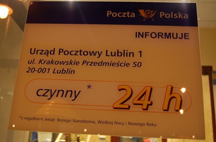 PGP poczta polska w Lublinie