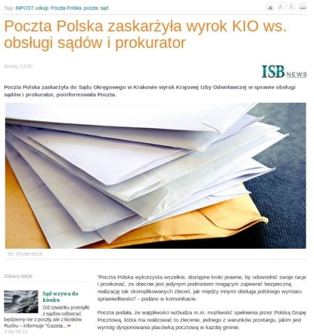 PGP poczta polska zaskarżyła