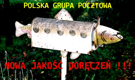 PGP ryba w skrzynce pocztowej NOWA JAKOSC DORĘCZEŃ