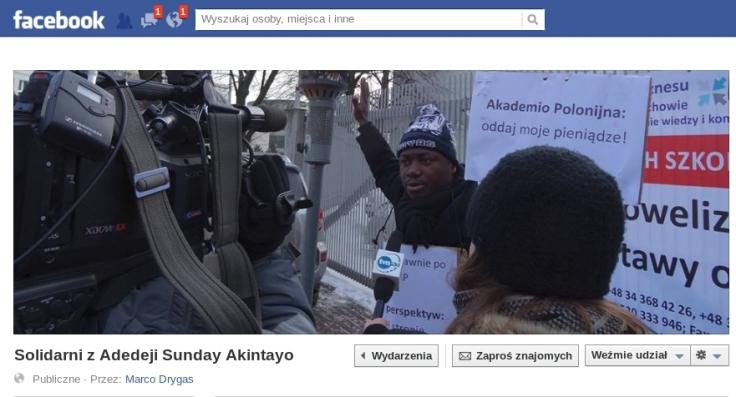 AP screen z wydarzenia na fb