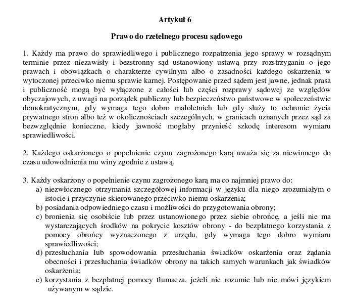 Konwencja opcipw art 6