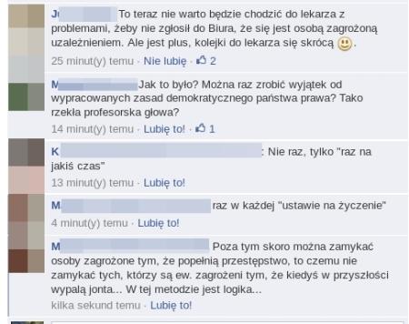 nowelizacja ust narkomanii komenty z fb