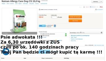 stawki adw karma dla psa