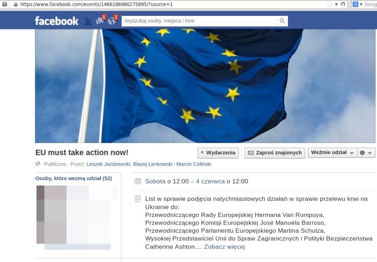 Ukraina wydarzenie na fb