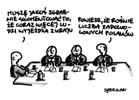 emigracja rosnie-liczba zadowolonych Polakow