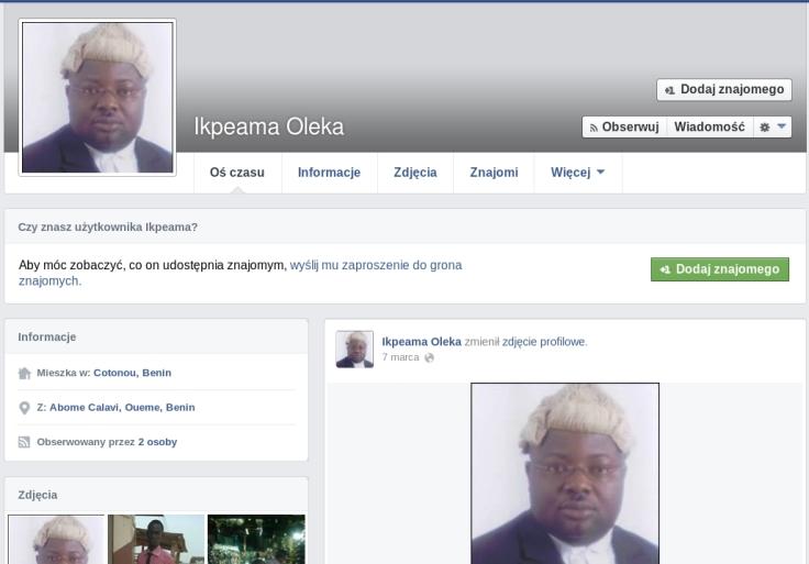 oszust na fb Ikebama Oleka