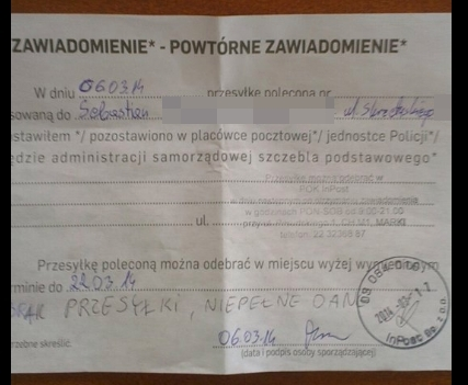 PGP awizo bez nr 0