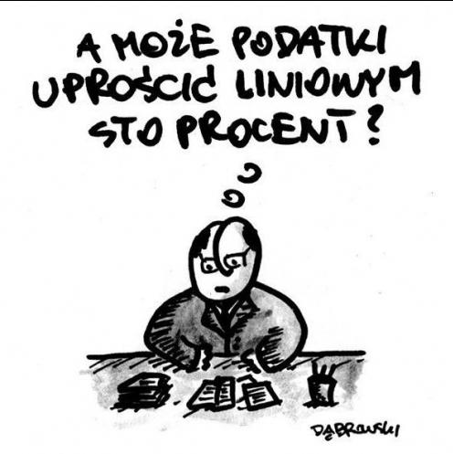 Remek Dąbrowski liniowy podatek 100 procent
