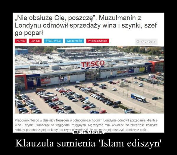 klauzula sumienia islam