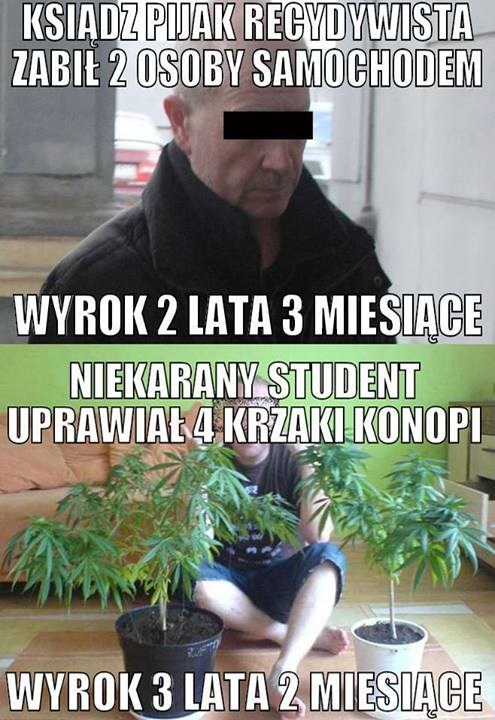 marihuana 3 lata jazda po pijaku i zabicie 2 osób 2 lata