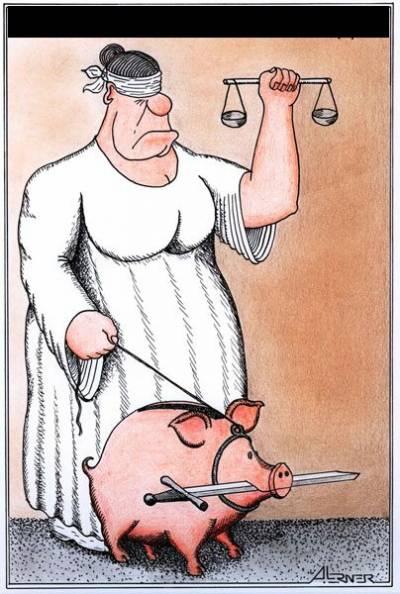 sprawiedliwość ze świnią temida