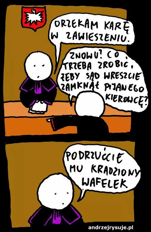 Andrzej rysuje podrzucić wafelek