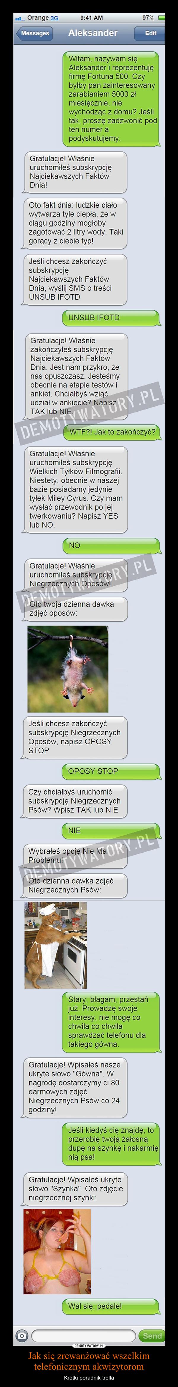trolling SMS