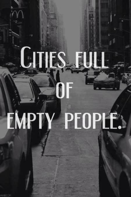 city full of empty people