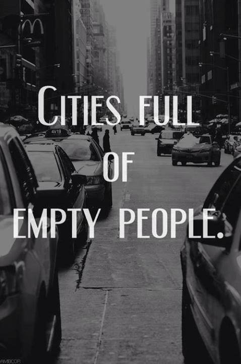 city full of empty people