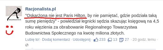 oskarzona nie jest Paris Hilton