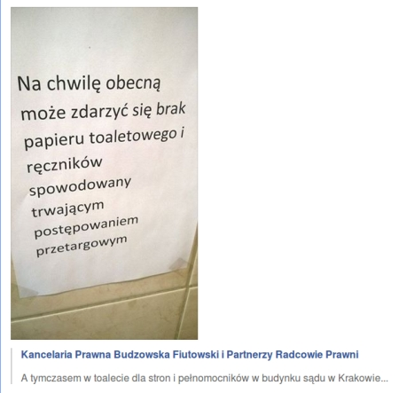 pajacyki brak papieru toaletowego
