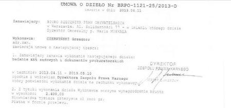 umowa o dzieło RPO z sędzią