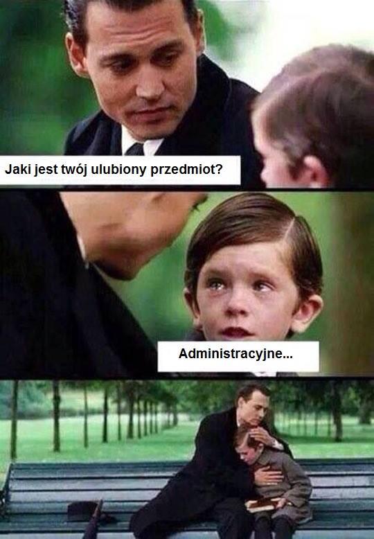 ulubiony przedmiot administracyjne
