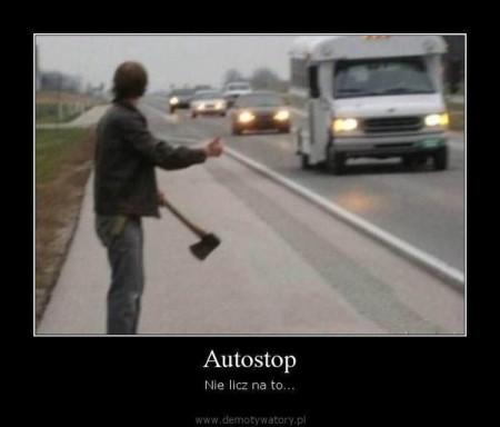 autostop nie licz na to
