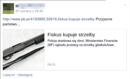 fiskus kupuje strzelby PP