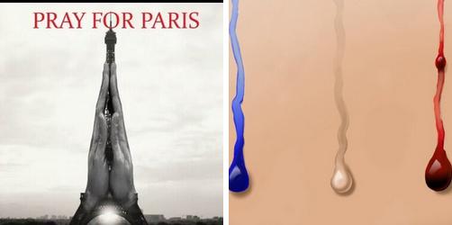 Francja Paryż pray for