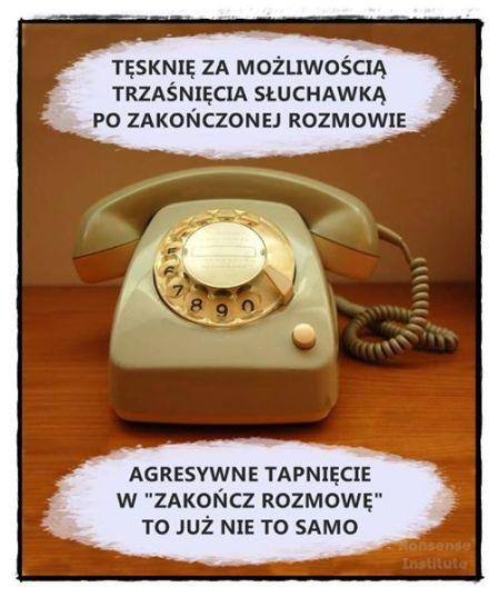 telefon tęsknię za możliwościątrzaśnięcia