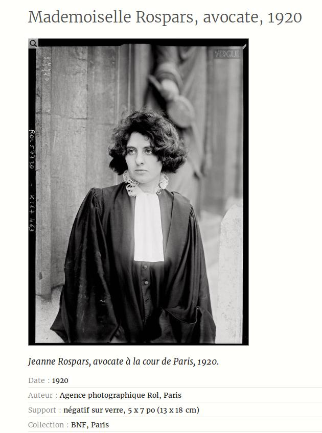 adwokat kobieta Rospars Francja 1920
