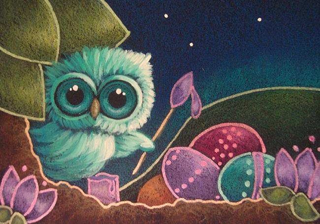 tiny owl painting